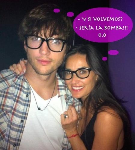 ¿Qué Demi Moore y Ashton Kutcher se reconcilian? ...WTF!!