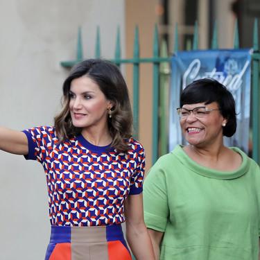 Doña Letizia repite su look más retro en Estados Unidos
