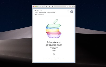 Applesfera Keynote Invitacion 10 Septiembre 2019