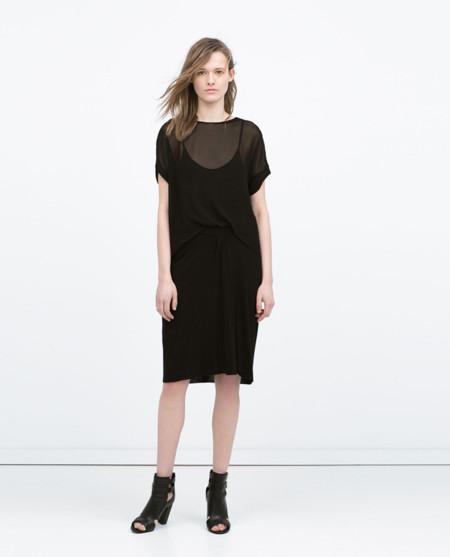 Zara Transparencias Vestido