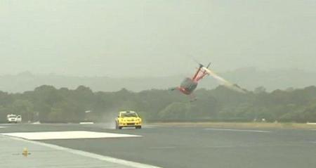 Prueba de velocidad: Coche de rallyes vs helicóptero