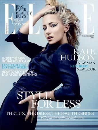Kate Hudson para Elle edición navideña