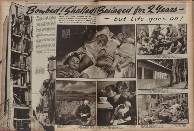2 Bombed Shelled Besieged For Two Years But Life Goes On The Weekly Illustrated 1938