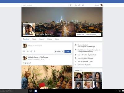 Facebook para Windows 10 se actualiza con mejoras estéticas para optimizar su interfaz
