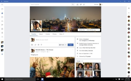 Facebook para Windows 10 se actualiza con mejoras estéticas para optimizar su interfaz