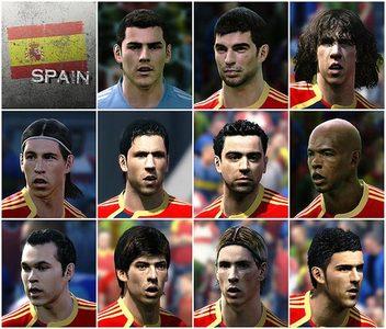 Así luce la selección española en 'PES 2010'