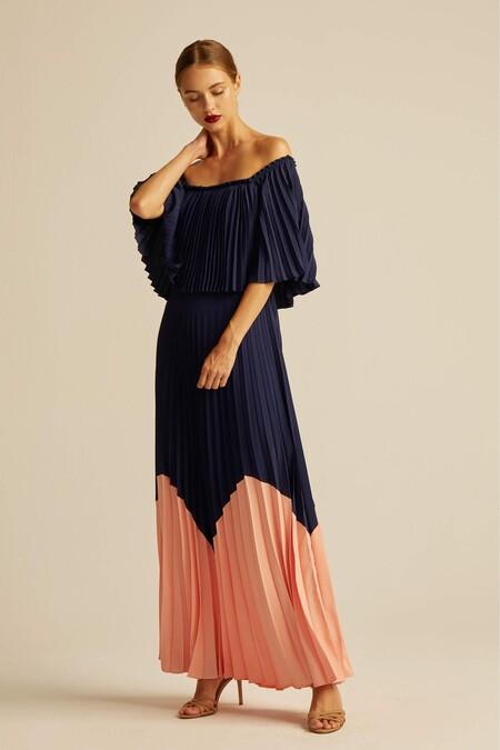 Cdata Vestido Sonia Azul Marino