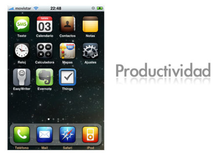 Pantalla iPhone Productividad