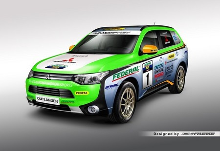 El Mitsubishi Outlander PHEV participa en el Rally Asia Cross Country