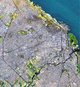 Mapas satelitales de Buenos Aires