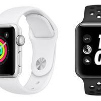 El Apple Watch Series 3 de 38mm, en El Corte Inglés nos sale ahora por 269,10 euros