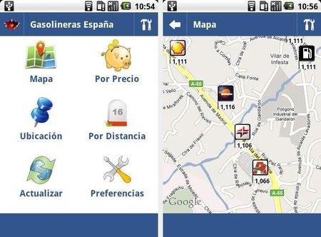 Gasolineras España, busca el mejor precio de la gasolina (o gasóleo) en tu Android