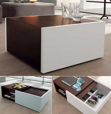 Low table: una mesa de café con espacio de almacenamiento adicional