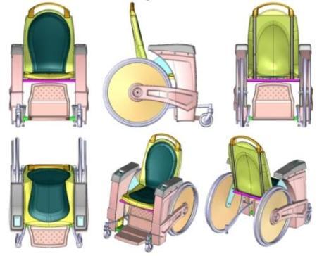 Silla de ruedas capaz de elevarse I