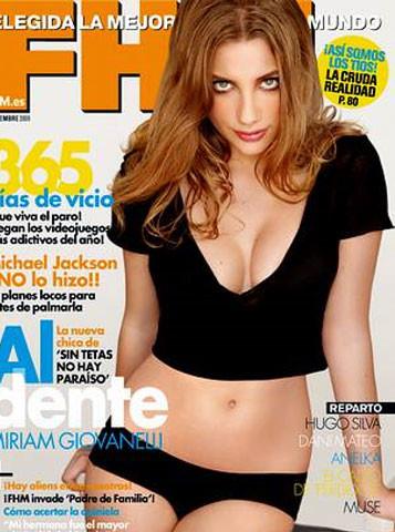 Miriam Giovanelli muy sexy para FHM