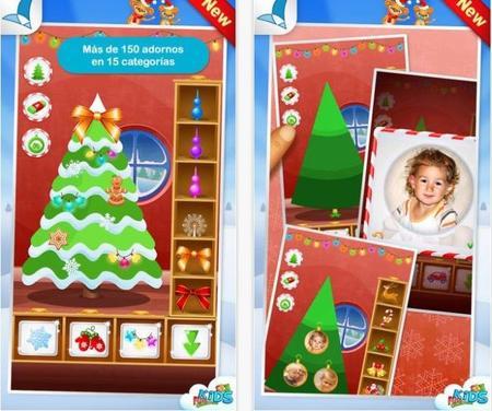 Crea tu propio árbol de Navidad con la aplicación 123 Kids Fun Christmas Tree