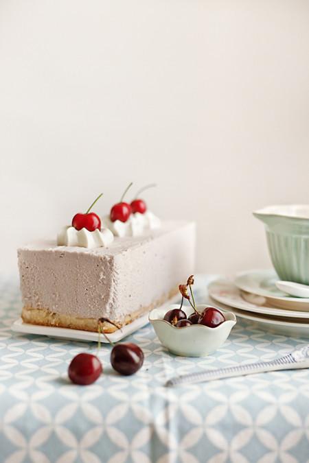 Tarta Mousse Queso Cerezas
