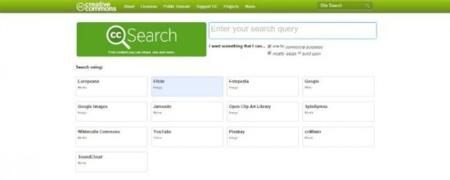 Encuentra contenido Creative Commons en varios servidores con CC Search