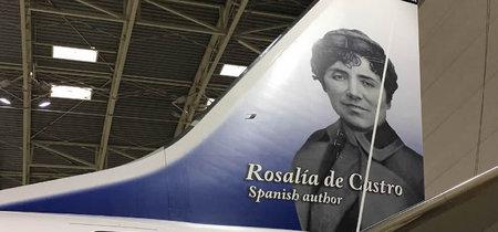 Norwegian Airlines presenta su avión con la imagen de Rosalía de Castro