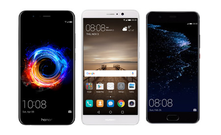 Honor 8 Pro vs Huawei Mate 9 vs Huawei P10 Plus