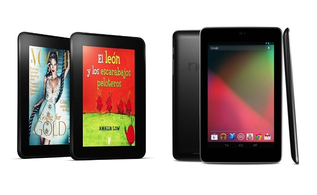 Kindle Fire HD frente a Nexus 7