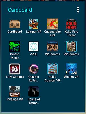 Cardboard Apps