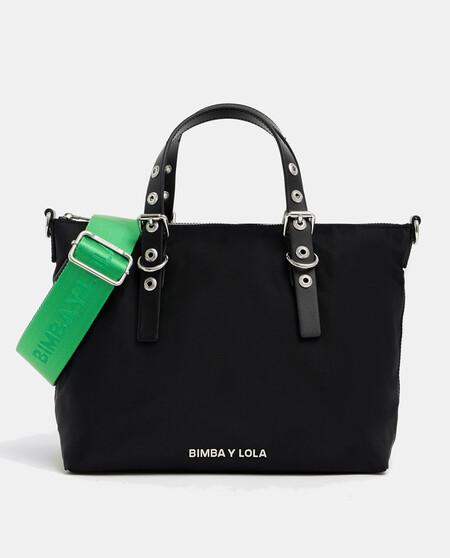 Shopper Pequeno Nylon Negro Bimba Y Lola