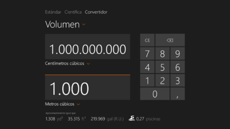 Calculadora de Windows 8.1