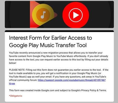 Activación Transferencia Google Play Music