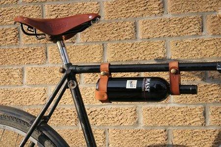 Porta vinos para la bicicleta
