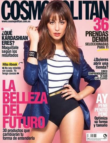 Hiba Abouk luce flequillo de portada en Cosmopolitan