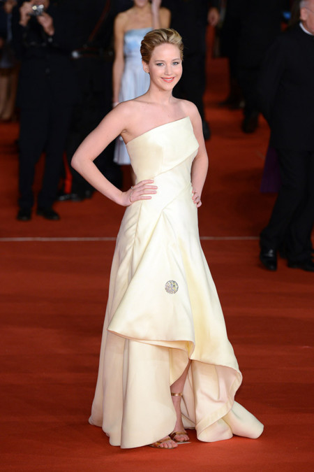 Blanco Jennifer Lawrence Dior