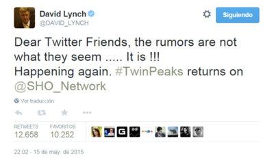 Habrá 'Twin Peaks' con David Lynch: Showtime anuncia un acuerdo con el director