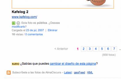 Flickr ahora provee geoFeed y KML