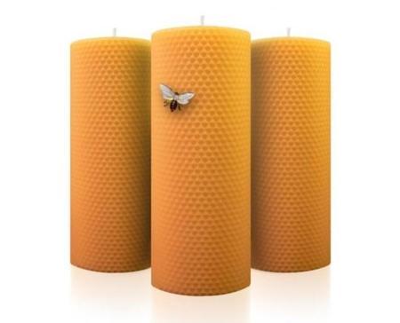 Velas naturales de cera 100% pura de abeja