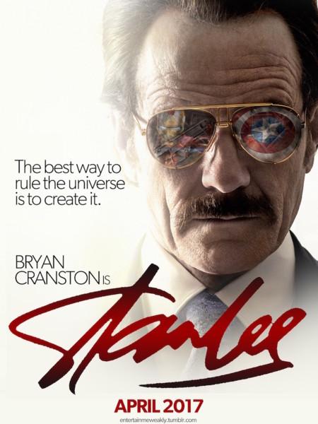 Cartel del falso biopic de Stan Lee con Bryan Cranston