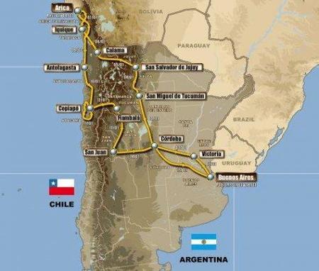 Se da a conocer el recorrido del Dakar de 2011