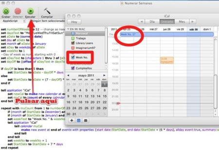 Truco: Añade un calendario con el número de semana a iCal