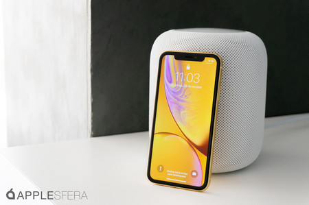 iPhone XR y HomePod