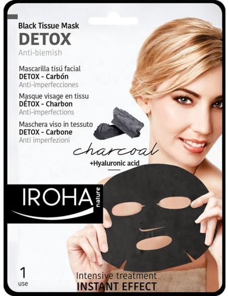 Iroha Nature Detox Carbón Tisú Mascarilla Facial - Tratamiento