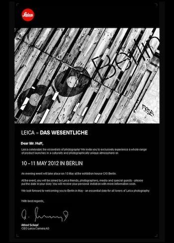 Leica M10 event