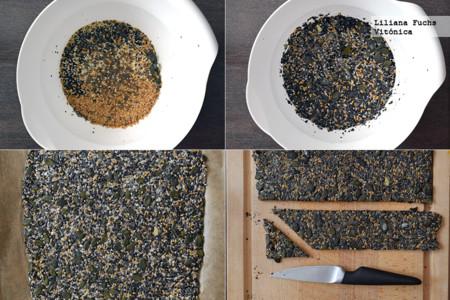Crackers crujientes de semillas y avena