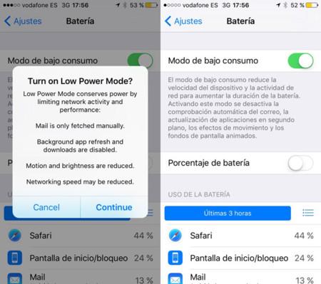Bateria iOS 9