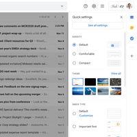 La interfaz de Gmail será más fácil de personalizar gracias a su nuevo menú de ajustes rápidos