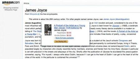 La Wikipedia comercial, patrocinada por Amazon
