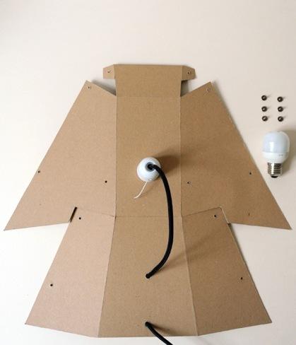 Hazlo tú mismo: una lámpara de cartón