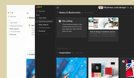 Walling parece un hijo de Notion y Pocket: guarda y organiza ideas, URLs e imágenes desde el navegador