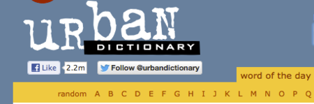 """¿Funcionan los botones de """"Seguir"""" en Twitter en las páginas web? A @urbandictionary parece que sí"""