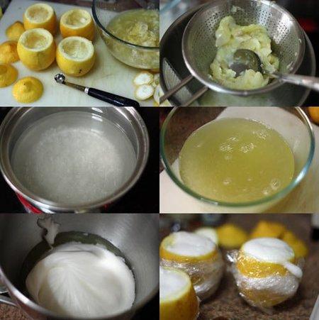 Pasos para hacer el helado de limón