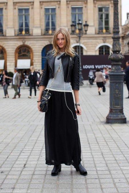 La falda larga es una apuesta segura para esta temporada